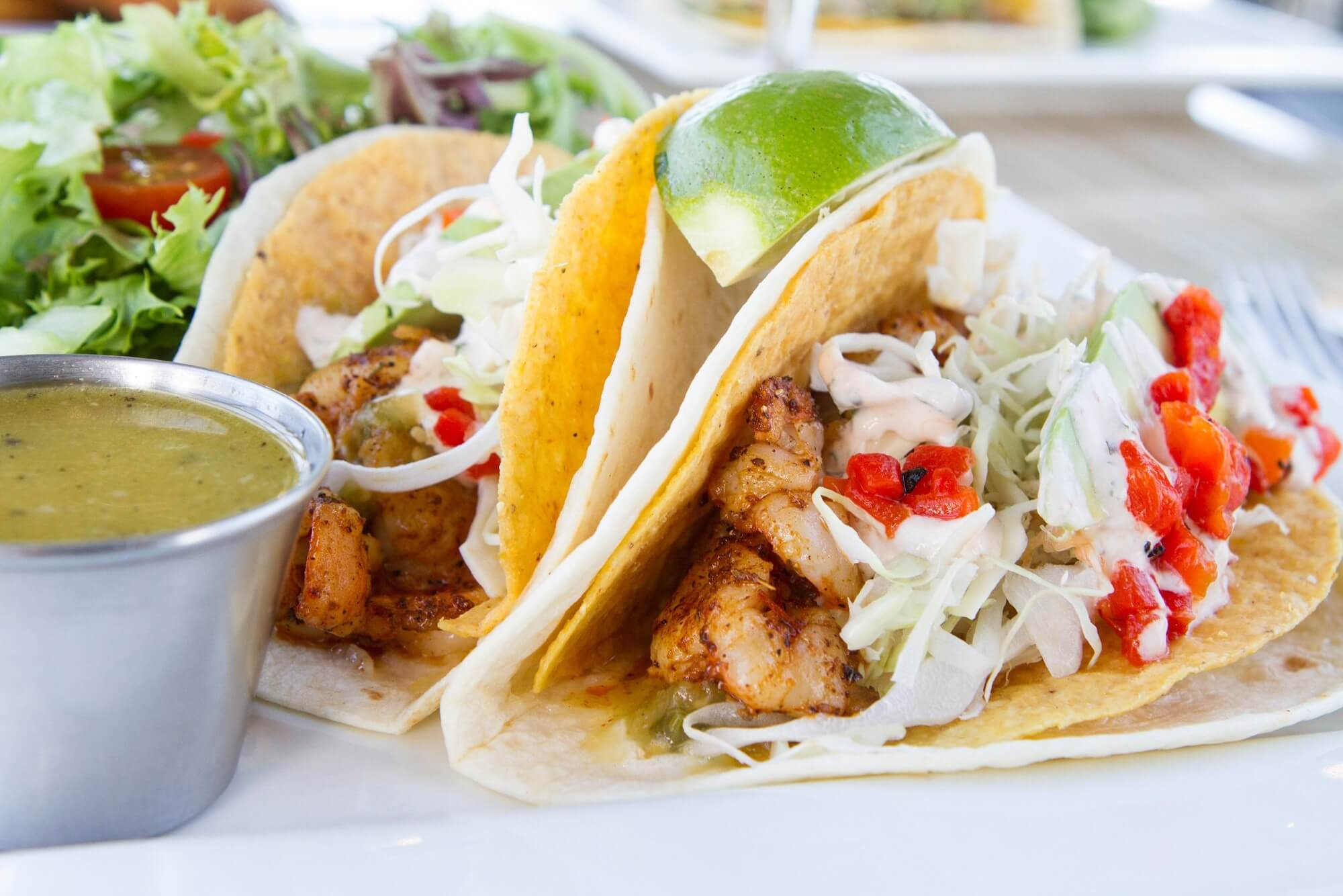 The Point Crab House - Shrimp Tacos