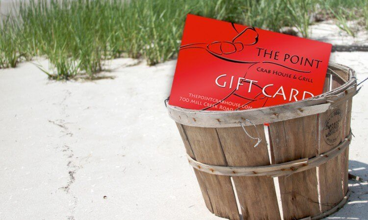 The Point Crab House Gift Card Page Header
